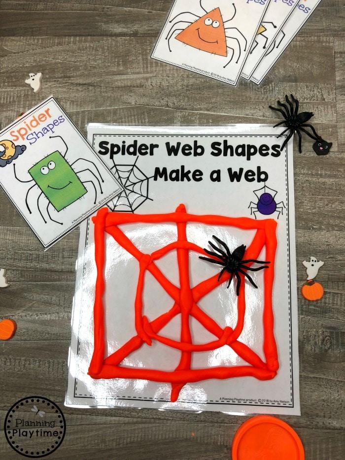 Preschool Shapes Worksheets - Halloween Shapes Game