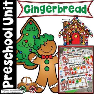 Gingerbread Man Printables for Preschool #gingerbeadtheme #preschoolprintables #preschoolworksheets #gingerbreadworksheets #planningplaytime