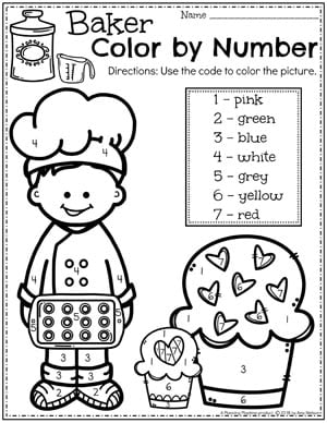 Preschool Coloring Pages - Cupcakes Col