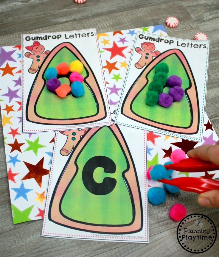 Preschool Gingerbread Printables - Alphabet Cards #gingerbreadmanprintables #gingerbreadmanworksheets #gingerbreadmantheme #preschool #preschoolworksheets #planningplaytime