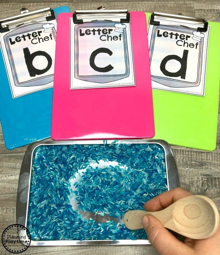 Sensory Tray Letter Writing - Writers Workshop for Preschool