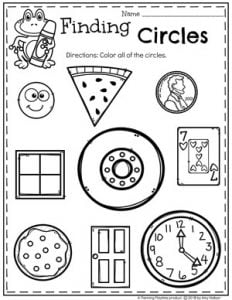 Circles Worksheet for Preschool #preschoolworksheets #2dshapes #shapesworksheets #planningplaytime