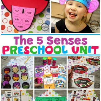 5 Senses Activities for Preschool #5senses #preschoolthemes #preschoolcenters #planningplaytime