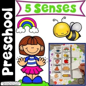 5 Senses Theme for Preschool