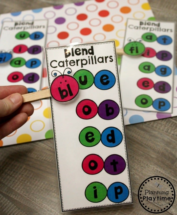 Digraphs Activities - Clip and Read Caterpillar Digraphs #digraphs #wordwork #planningplaytime