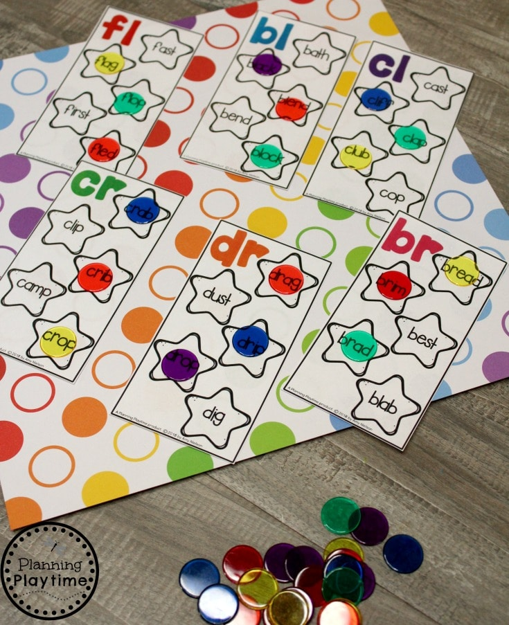 Digraphs Activities for Kids - Consonant Digraph I Spy Cards #digraphs #wordwork #planningplaytime #blends