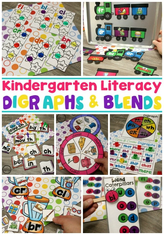 Digraphs Worksheets and Games - Kindergarten Word Work
