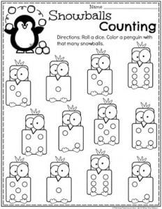 Preschool Penguin Worksheets - Winter Counting Printables for Preschool #arcticanimals #preschoolworksheets #planningplaytime #countingworksheets