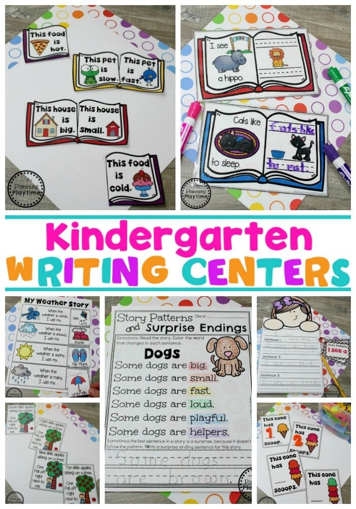 Kindergarten Writing Worksheets - Planning Playtime