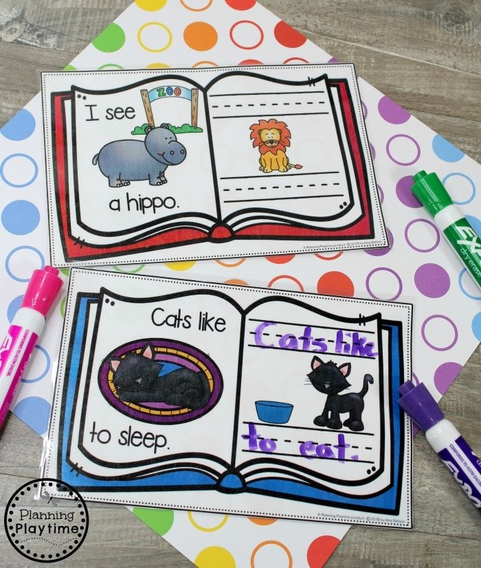 Kindergarten Writing Worksheets - Story Patterns Writing #planningplaytime #kindergarten #kindergartenwriting #storypatterns