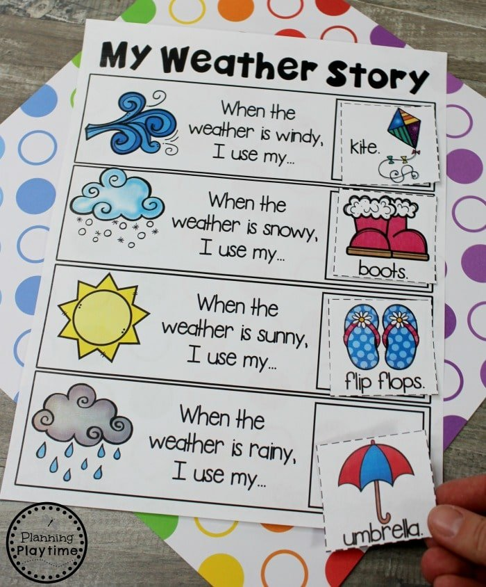 Kindergarten Writing Worksheets - Story Patterns #planningplaytime #kindergarten #kindergartenwriting #storypatterns