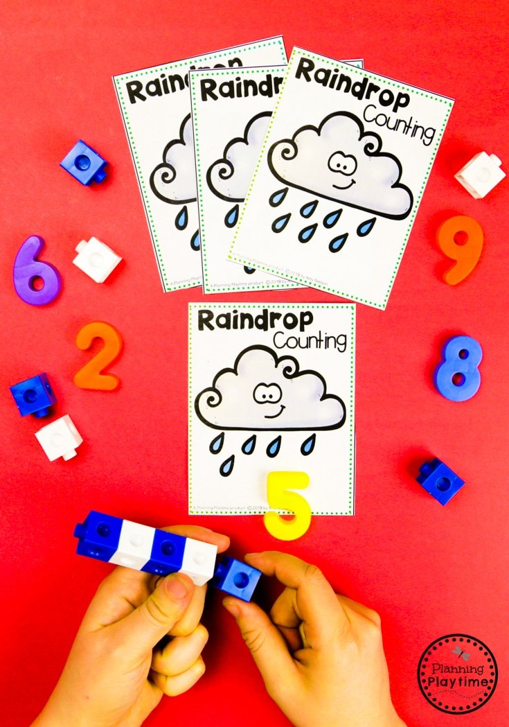 Preschool Math Activities - Weather Theme #planningplaytime #weathertheme #preschoolactivities #preschoolworksheets #springworksheets