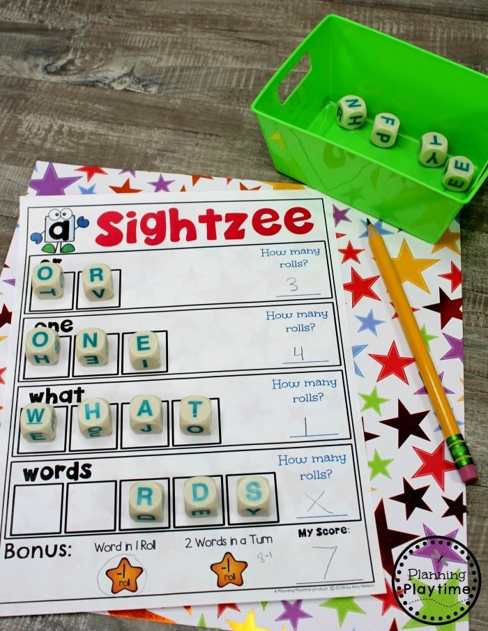 Sight Words Games - Kindergarten Sight Words #planningplaytime #sightwords #kindergarten #kindergartenworksheets #literacycenters