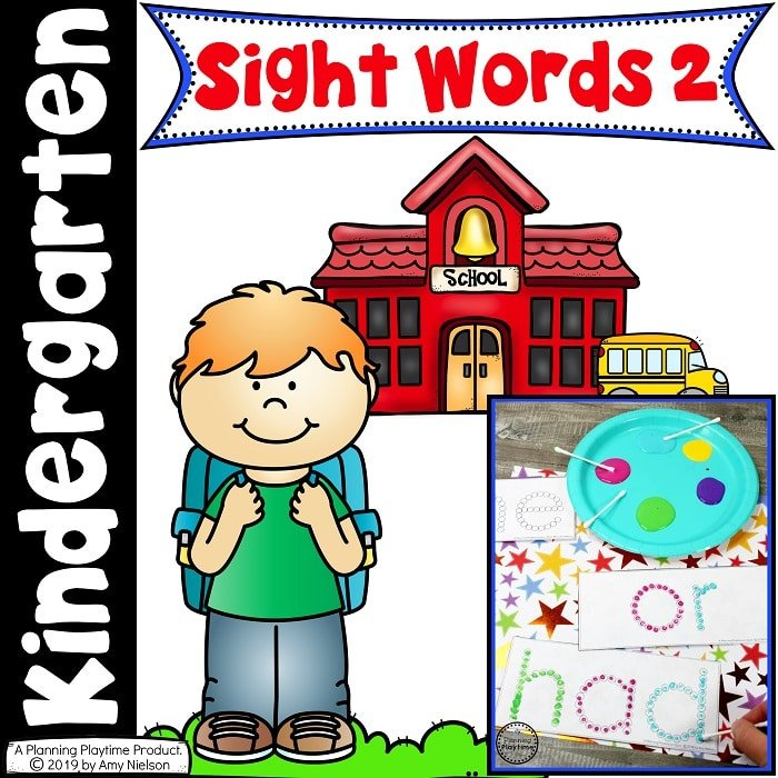 Sight Words Worksheets and Centers - Kindergarten Sight Words