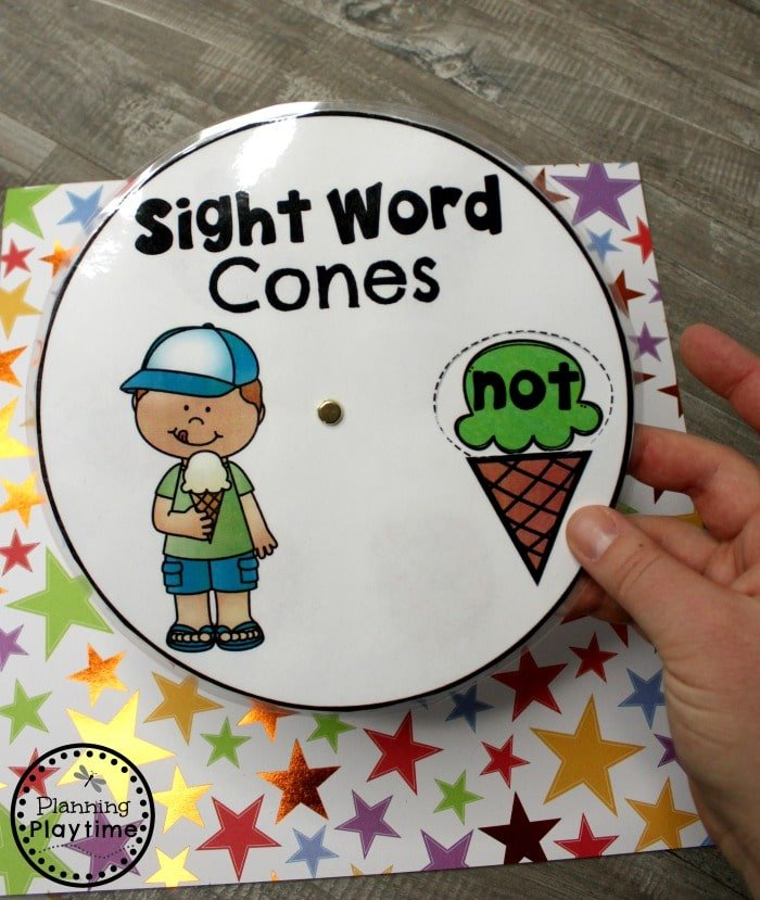 Sight Words for Kindergarten Game - Spin and Read#planningplaytime #sightwords #kindergarten #kindergartenworksheets #literacycenters