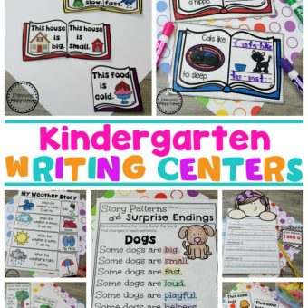 Story Patterns Writing Centers for Kindergarten #planningplaytime #kindergarten #kindergartenwriting #storypatterns
