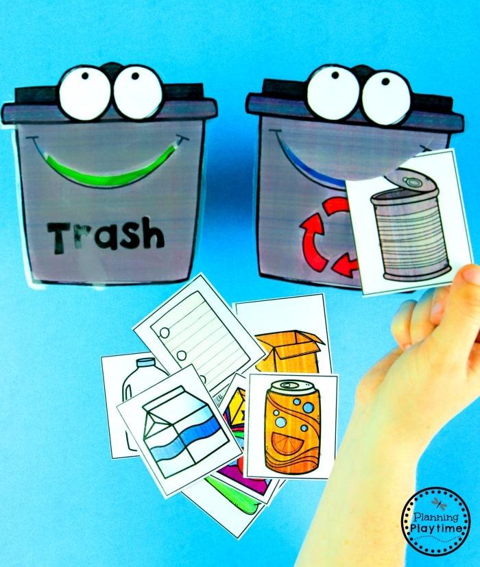 Earth Day Activities for Preschool - Recycle Sort