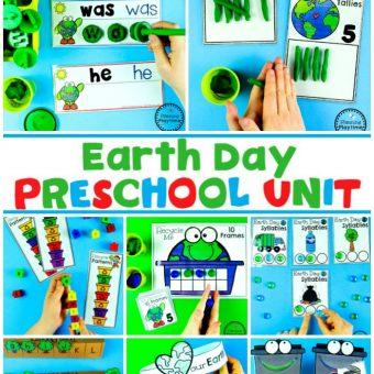 Earth Day Activities for Preschool or Kindergarten #planningplaytime #earthday #preschool #preschoolworksheets