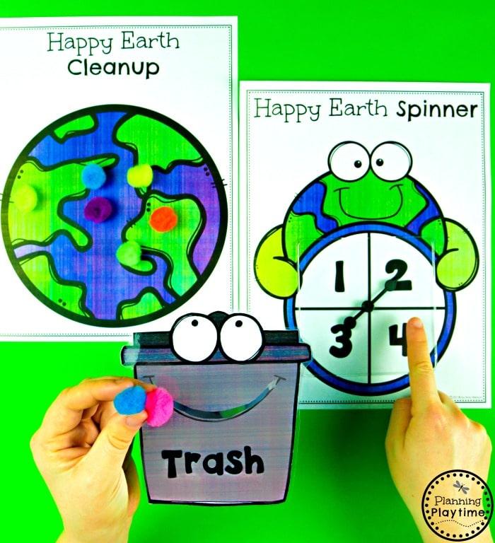 Preschool Earth Day Theme Activities  #planningplaytime #earthday #preschool #preschoolworksheets