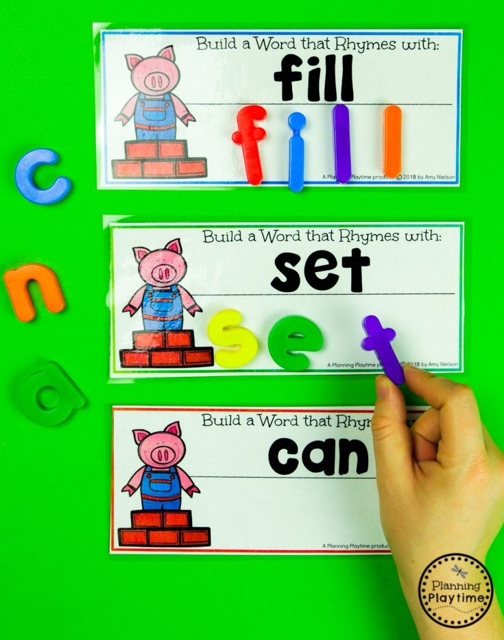 Rhyming Words Activities - Build a Rhyming Word