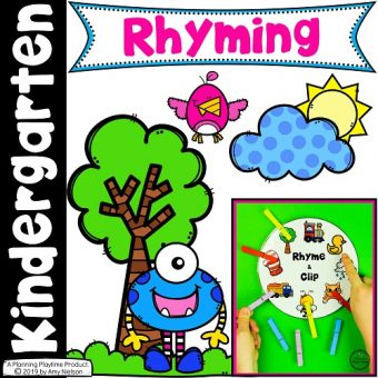 Rhyming Words for Kids - Activities and Worksheets #planningplaytime #rhymingwords #kindergartenworksheets #rhymingworksheets #literacyworksheets