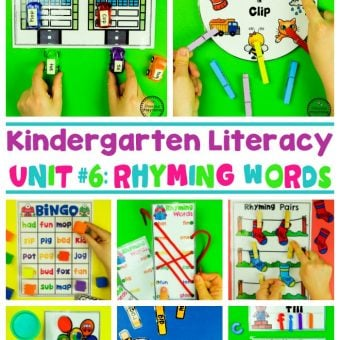Rhyming Words for Kids - Games and Worksheets #planningplaytime #rhymingwords #kindergartenworksheets #rhymingworksheets #literacyworksheets