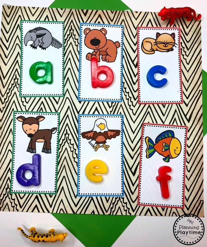 Beginning Sounds Animals - Preschool Zoo Theme #zootheme #preschool #preschoolworksheets #planningplaytime