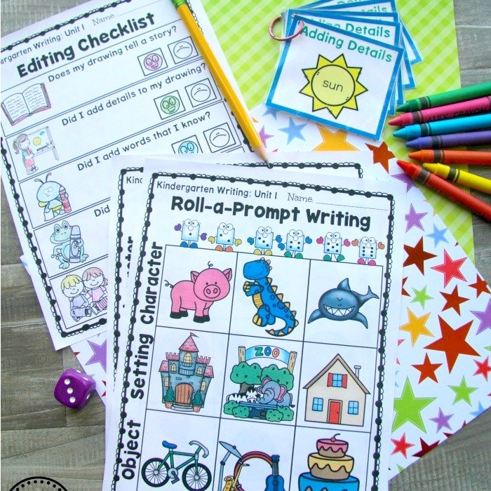 Kindergarten-Math-Centers-Writing-Prompts-and-Worksheets-for-Kindergarten