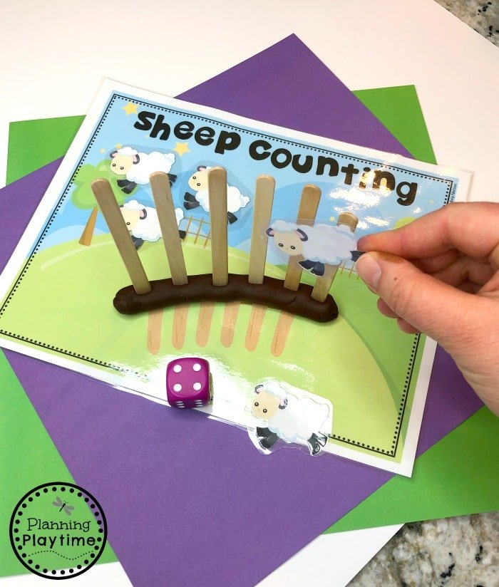 Preschool Counting Game - Counting Sheep