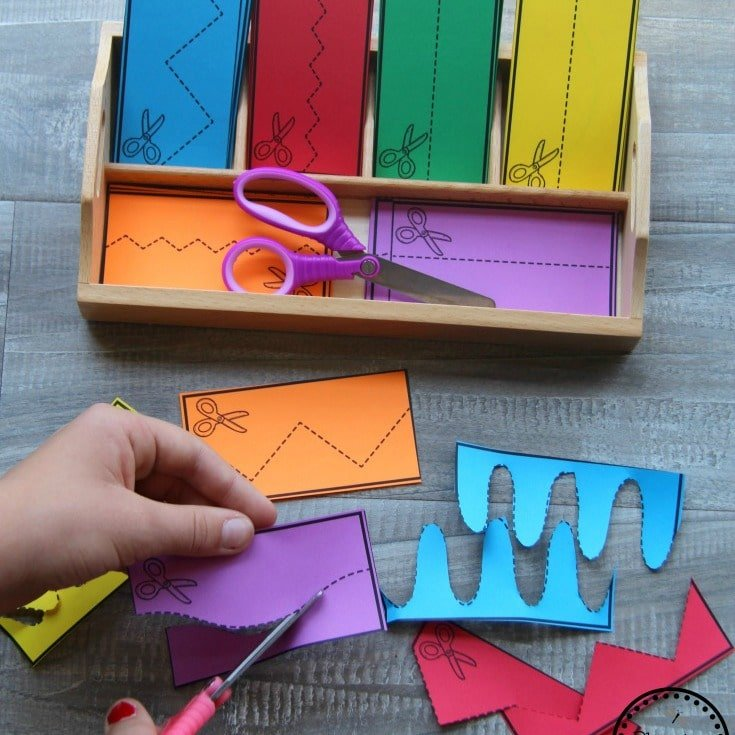 Preschool Cutting Activities - Back to School Theme