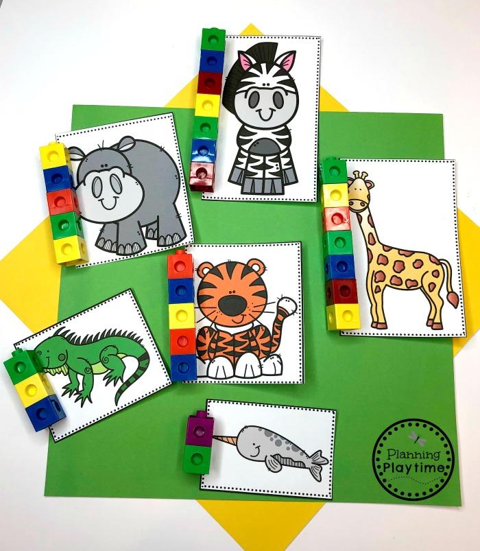Preschool Measurement Activities - Zoo Animals Theme #zootheme #preschool #preschoolworksheets #planningplaytime