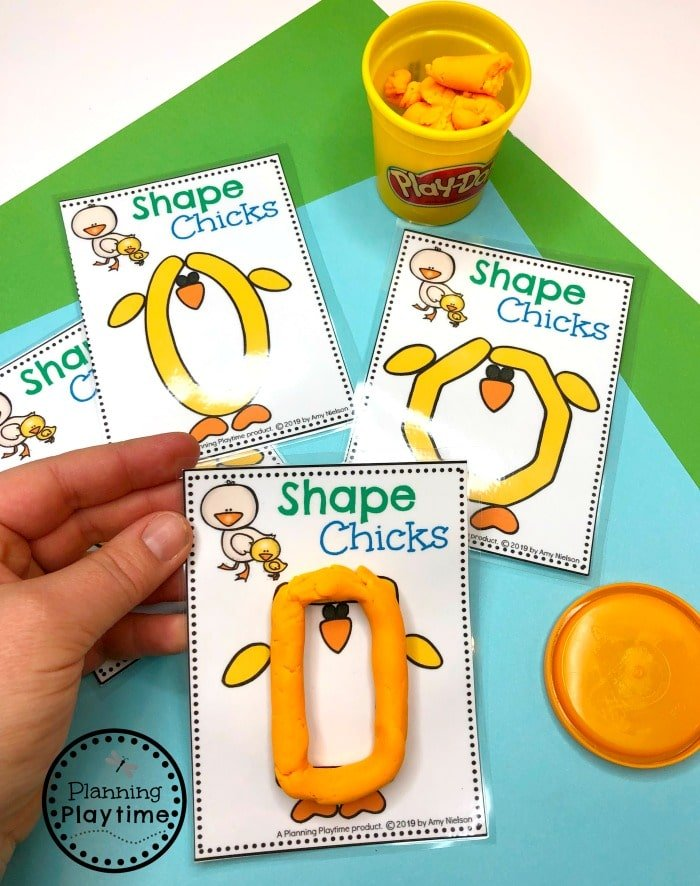 Preschool Shapes Game for Spring
