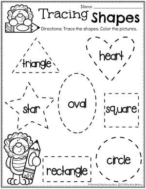Preschool Shapes Worksheets - Zoo Theme #zootheme #preschool #preschoolworksheets #planningplaytime
