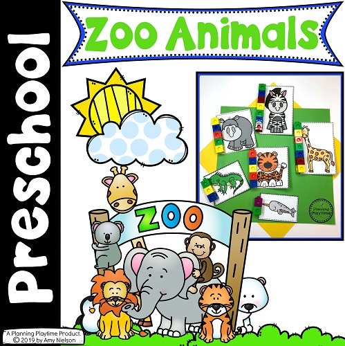 Preschool Zoo Animals Cover #zootheme #preschool #preschoolworksheets #planningplaytime