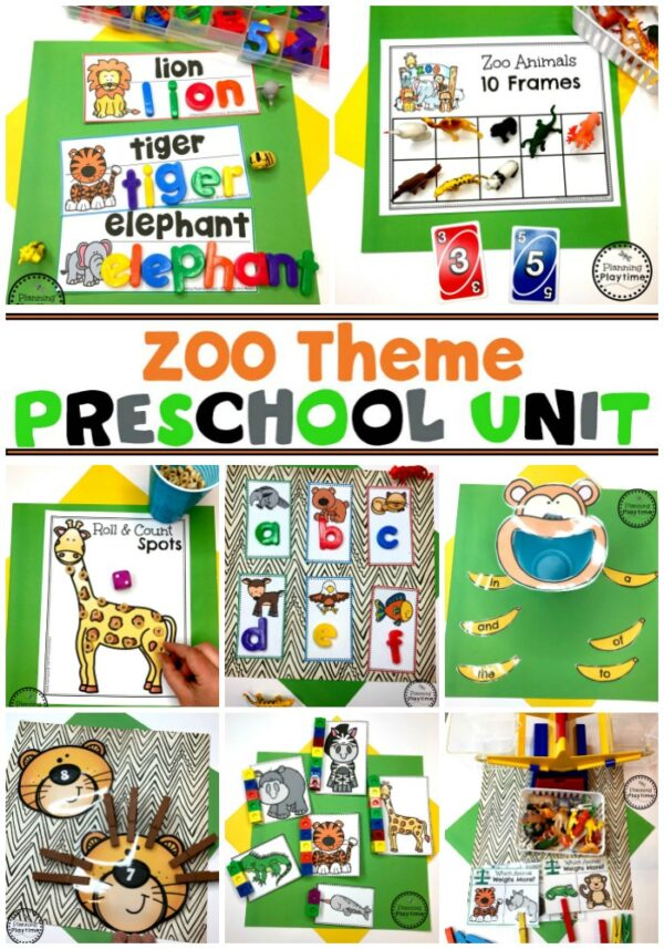 Preschool Zoo Theme Activities and Crafts #zootheme #preschool #preschoolworksheets #planningplaytime