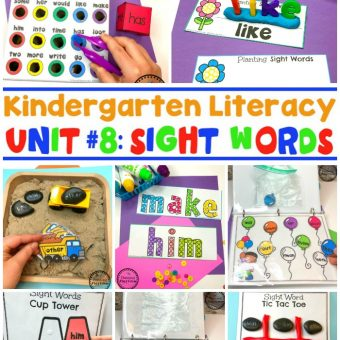 Sight Words Games and Activities for Kids #sightwords #kindergartenworksheets #sightwordsworksheets #planningplaytime