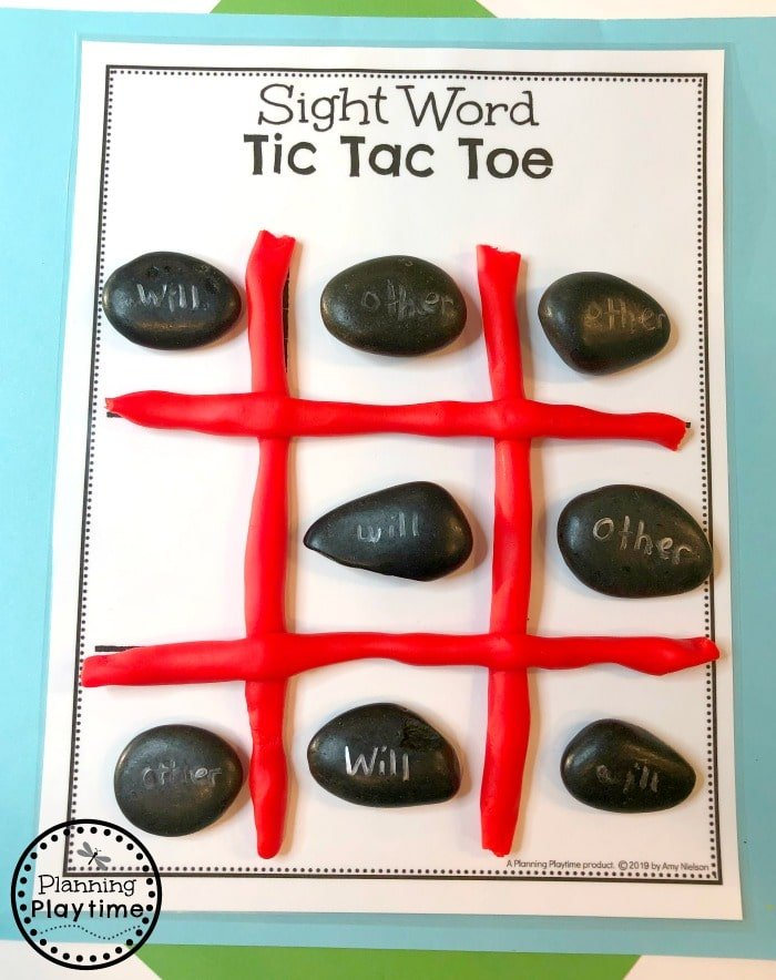 Sight Words Games for Kids - Tic Tac Toe #sightwords #kindergartenworksheets #sightwordsworksheets #planningplaytime