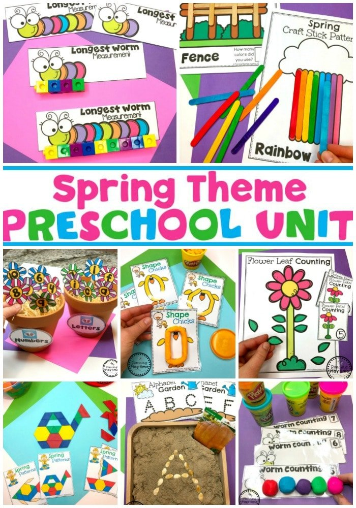 Spring Preschool Activities and Games for Kids