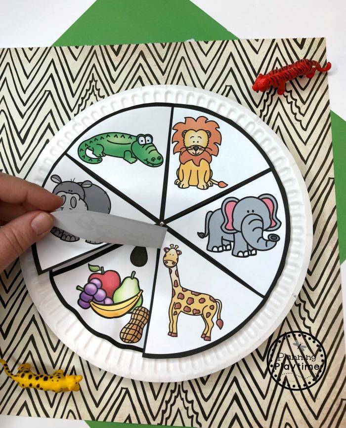 Zoo Animals Preschool Craft - What Animals Eat