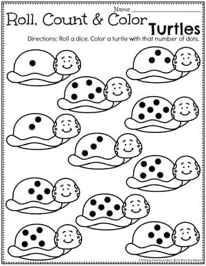 Counting Preschool Worksheets - Count and Color Number Worksheets for Preschool Pond Theme #preschool #preschoolworksheets #pondtheme #planningplaytime #countingworksheets