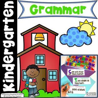Grammar Worksheets for Kindergarten