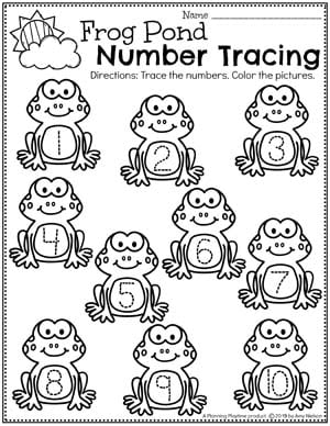 Number Preschool Worksheets - Pond Counting Worksheets for Preschool #preschool #preschoolworksheets #pondtheme #planningplaytime #numberworksheets #countingworksheets