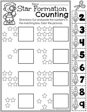 Number Worksheets for preschool - Preschool Counting Worksheets for a Space Theme #spacetheme #preschoolworksheets #preschoolactivities #preschoolprintables #planningplaytime #numberworksheets