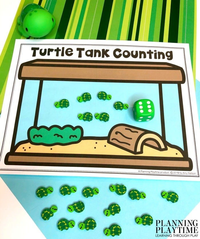 Preschool Activities Counting - Pond Theme for Preschool Math #preschool #preschoolworksheets #pondtheme #planningplaytime