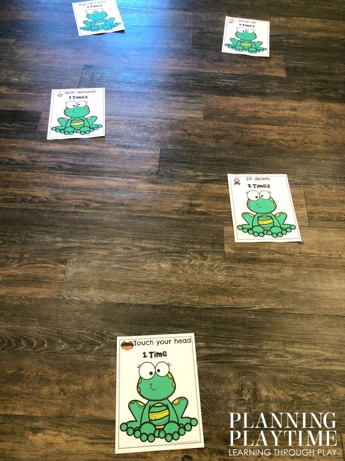 Preschool Movement Activity - Count and Move Frog Jump Game