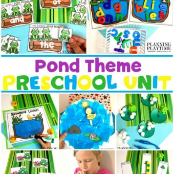 Preschool Pond Theme Activities and Printables #preschool #preschoolworksheets #pondtheme #planningplaytime