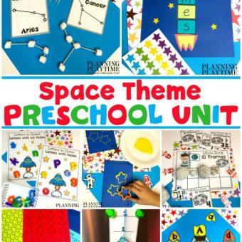 Preschool Space Theme Activities and Printables #spacetheme #preschoolworksheets #preschoolactivities #preschoolprintables