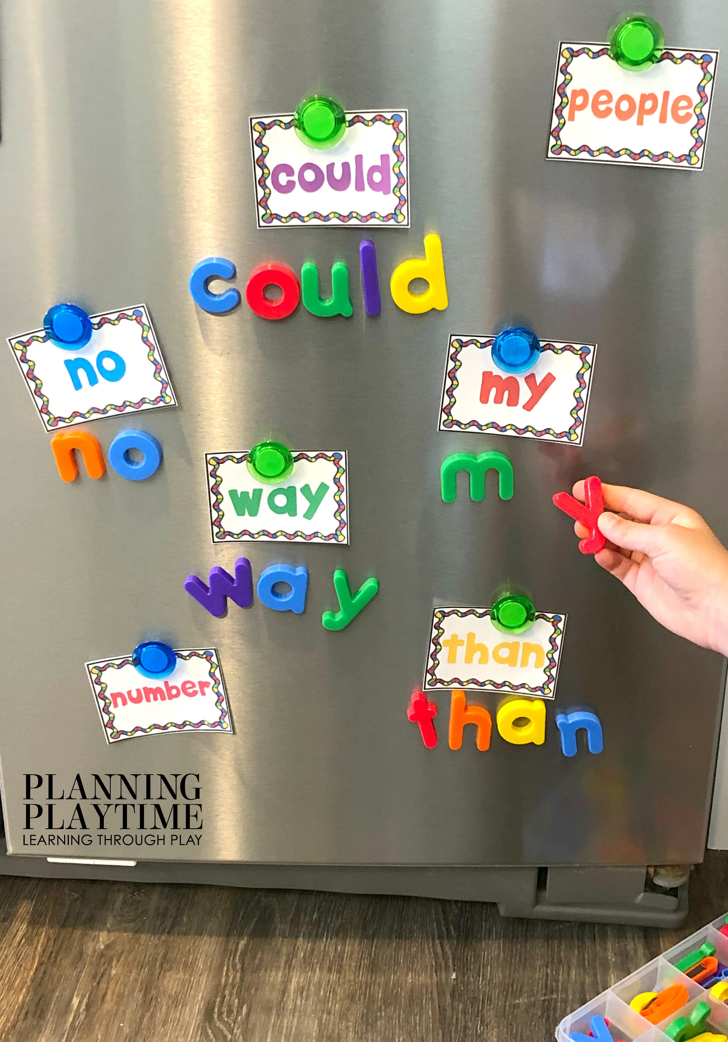 Sight Words Kindergarten Activities, Printables and Worksheets - Magnet Spelling #sightwords #kindergartenworksheets #kindergartensightwords #planningplaytime