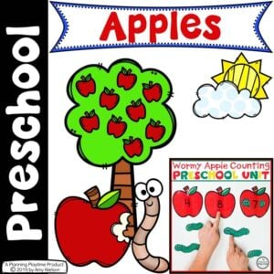 Apple Worksheets - Preschool
