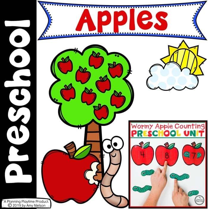 Apple Worksheets - Preschool